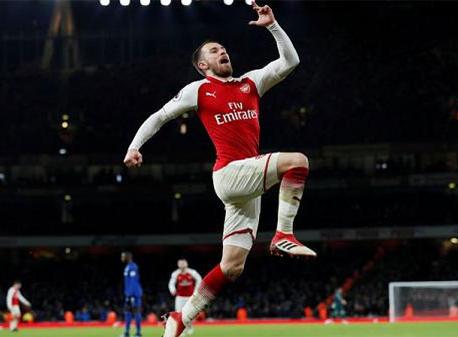 Ramsey hat-trick helps Arsenal to thrash Everton 5-1