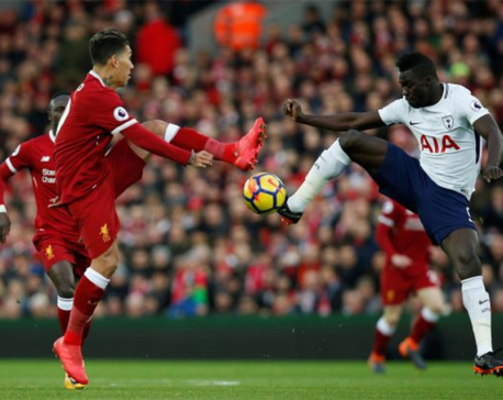Last-gasp Kane penalty earns Spurs draw at Liverpool