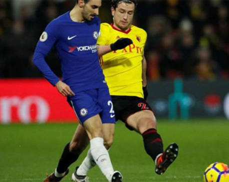 Watford late show sinks 10-man Chelsea