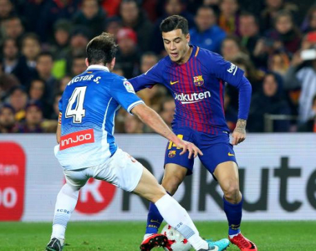 Barcelona book Cup semi-final spot as Coutinho makes debut
