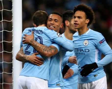 Manchester City ease through despite rare home loss to Basel
