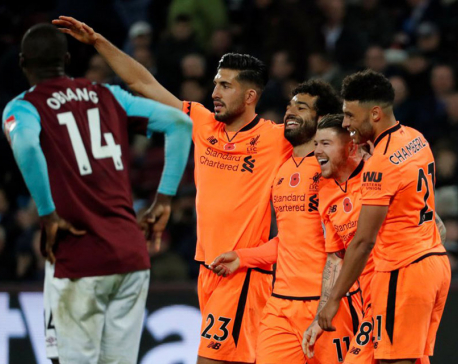 Liverpool crush sorry West Ham, Burnley flying high
