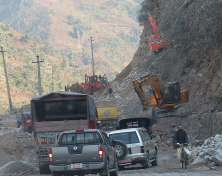 Road maintenance to delay vehicular movement at Narayanghat-Mugling road
