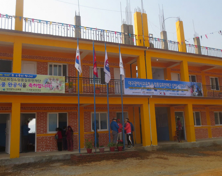 Korea-funded building brings cheers to Rolpa students