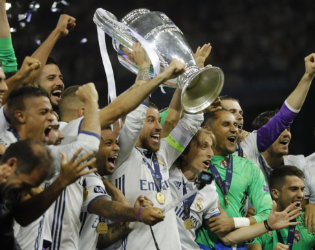 Ronaldo helps Real Madrid become 1st team to retain CL title