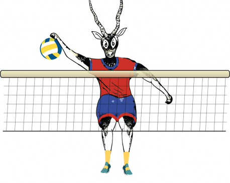 Nepali volleyball teams begin SAG campaign against India today