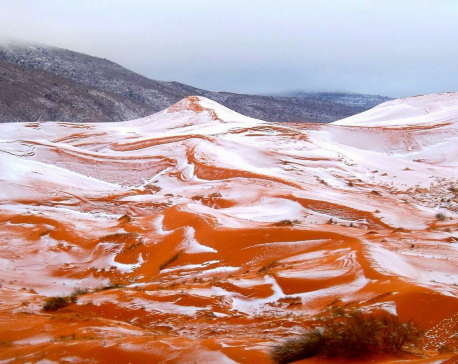 Snow falls in Sahara desert for first time in 37 years