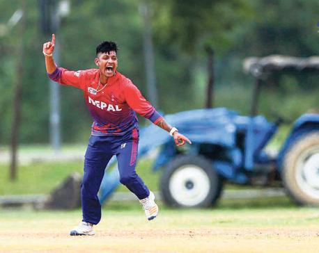 Lamichhane heroics in vain as Hong Kong crushes Nepal to reach final