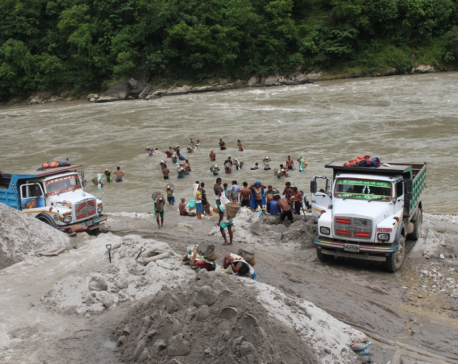 Local administration bans sand mining in Trishuli and other rivers