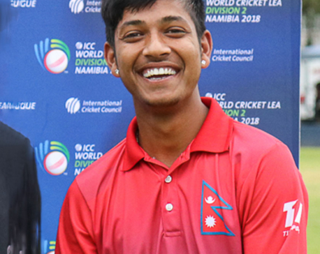 Sandeep Lamichhane awarded as Man of the Tournament