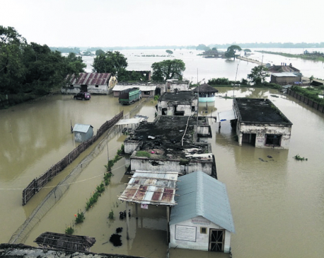 1500 houses inundated, 350 families displaced in Sapotari