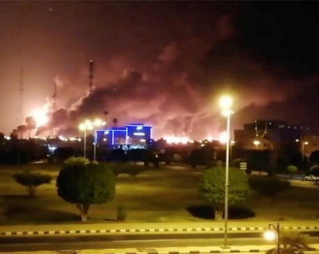 Fires from drone attacks on two Aramco sites under control: Saudi govt spokesman