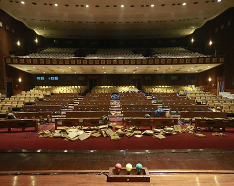 Seats arranged for lawmakers, audience, journalists in parliament