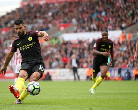 Aguero and Nolito score brace as Man City beats Stoke