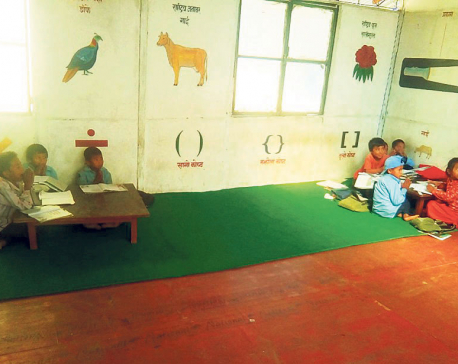 Delay in reconstruction of classrooms affecting children's education in Sindhuli