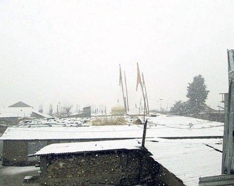 Snowfall halts tourist arrival in Jumla