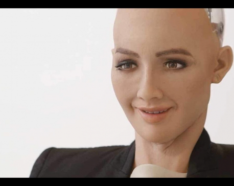 Sophia, the first humanoid robot to speak in Nepal