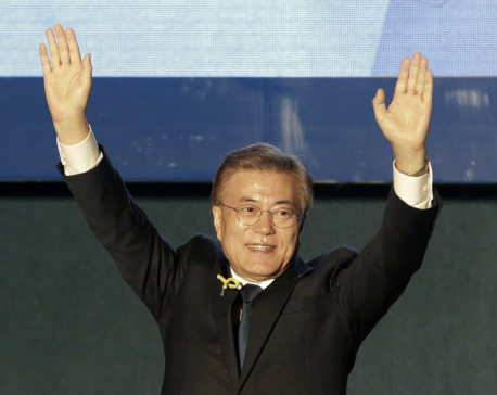 South Korea's newly elected liberal president starts duties