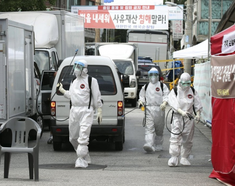 South Korea pastor tests positive amid virus spike at church