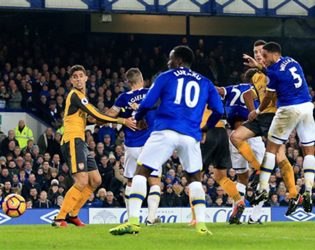 Arsenal caves in at Everton, misses out on top spot in EPL