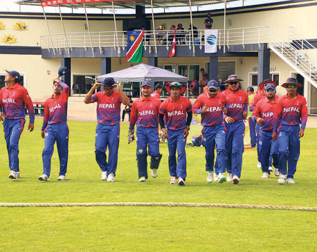 Cautious Nepal overcomes Namibia by a wicket
