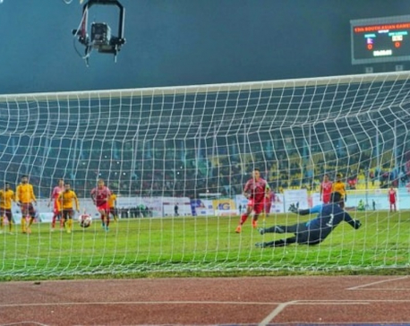 Nepali team share points with Sri Lanka in Men's Football under 13th SAG