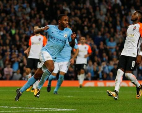 Sterling strike earns top spot for City