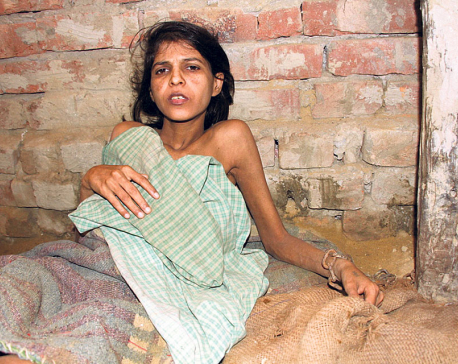 Woman tied in chains, locked in room for 12 years