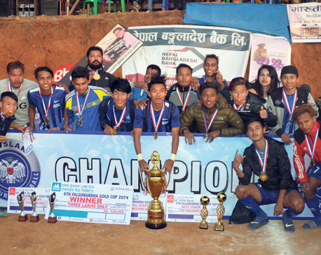 Sunsari XI wins Falgunanda Gold Cup