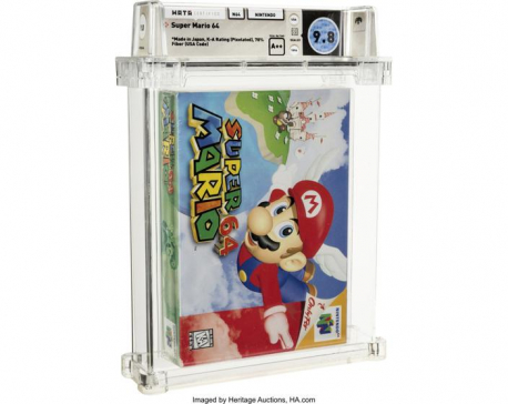 Unopened Super Mario 64 game from 1996 sells for $1.56M