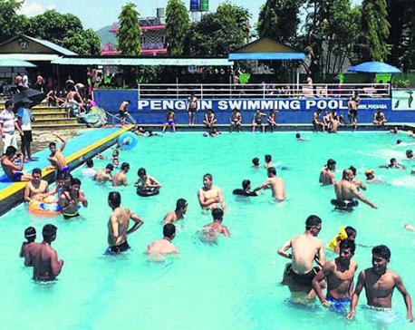 Pokhrelis swim to beat the heat