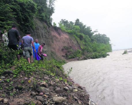 Swollen rivers threaten riverside settlements in Jhapa