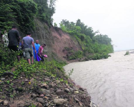Swollen rivers threaten riverside settlements in Jhapa