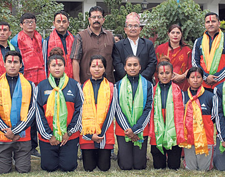 Nepali taekwondo team leaving for South Korea