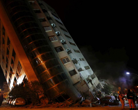 At least 4 dead in Taiwan earthquake, 145 missing