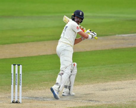 England lose Burns early after being set 277 for victory