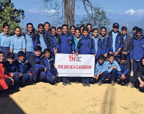 TFN with 'One Day in a Classroom' initiative