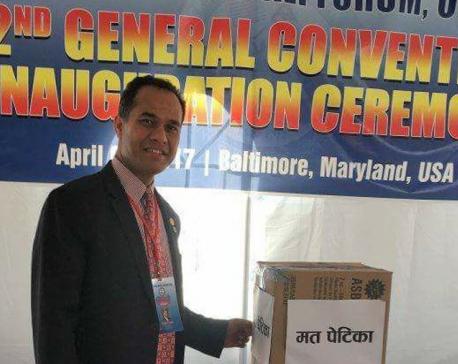 Prabhu Thapa elected Prawasi Nepali Manch chair