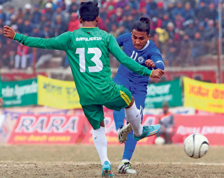 Three Star thrashes Bangladeshi club to reach Aaha Rara semis