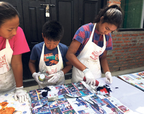 KIC organizes tie-dye workshop for children