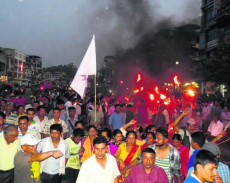 UML holds torch procession in Chitwan