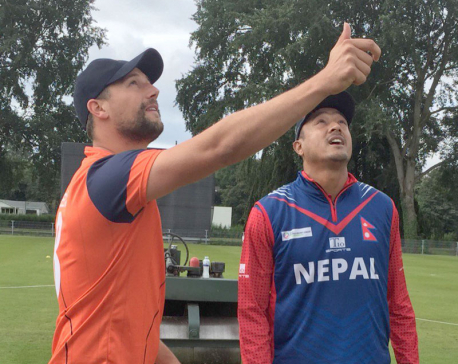 Netherlands invites Nepal to bat