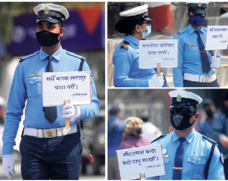As COVID-19 threat increases, traffic police launch awareness drive