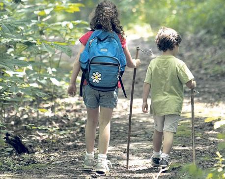 Trekking with kids
