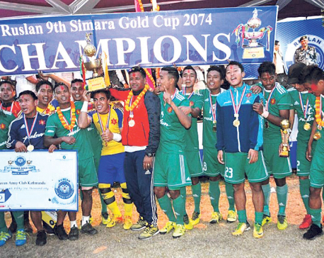 Tribhuvan Army club lifts Simara title