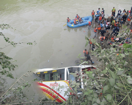 31 killed in Dhading bus plunge