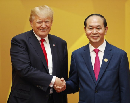 Trump pushes 'America first' during tough trade talk in Asia