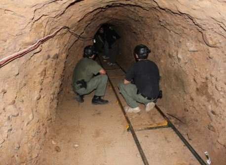 Mexico discovers hidden tunnel to US
