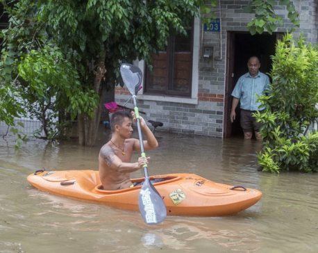 12 dead as strong typhoon floods Macau, southern China