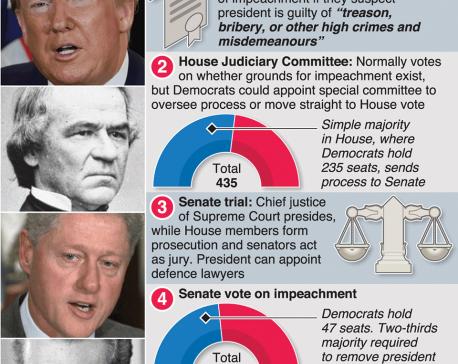 Infographics: Impeachment proceedings against Donald Trump